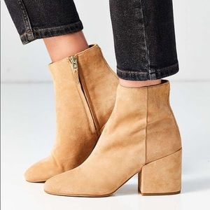 NWT Sam Edelman Low Heel Tan Suede Booties